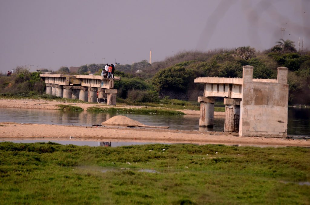 Adyar Estuary Chennai, Adyar Estuary Madras, Broken Bridge Chennai, Broken Bridge Madras, Morning in Chennai