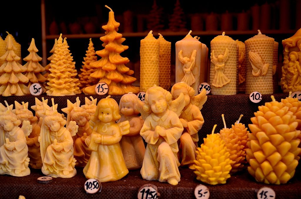 Bee wax candles, Christmas Markets, Germany