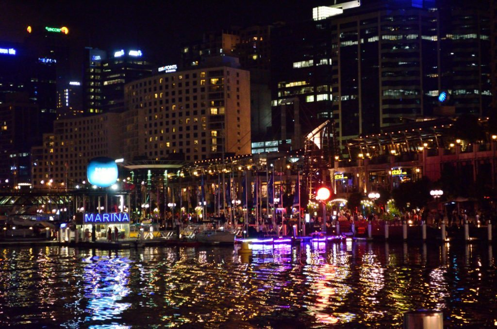 Sydney Darling Harbour, fireworks, lights