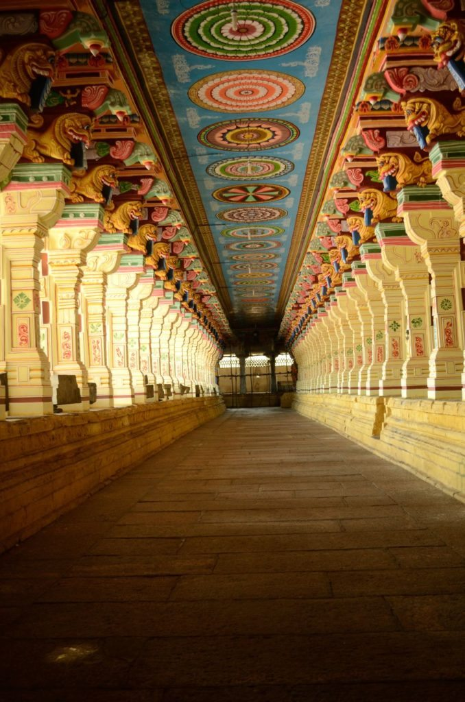 The corridor at the temple