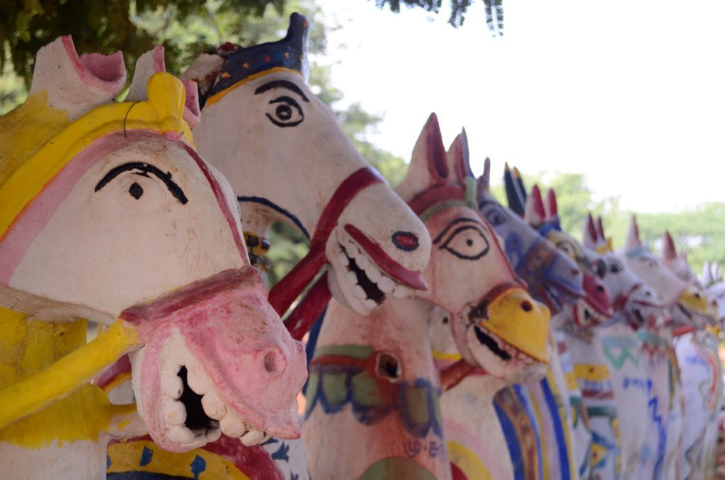 Terracotta horses at an Ayyanar temple