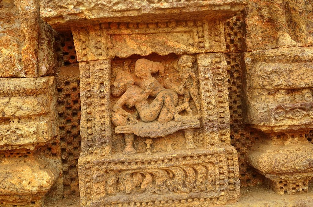 Konark, Sun temple, Orissa, erotic sculptires