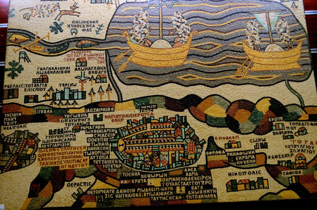 Madaba, mosaic,map