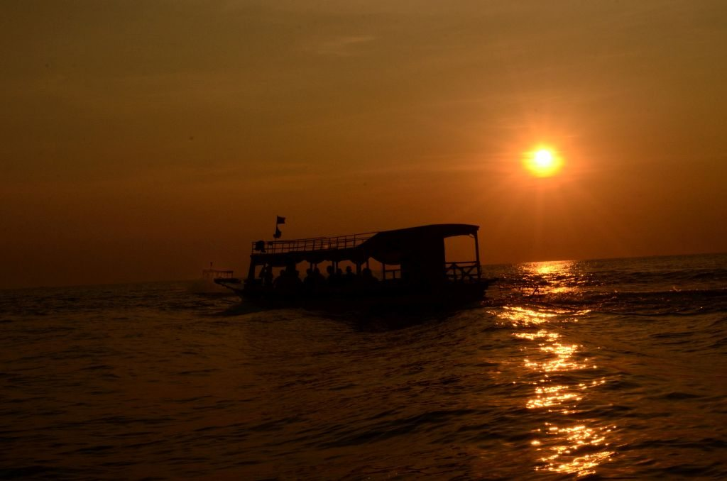 Tonle Sap, Cambodia, sunset cruise