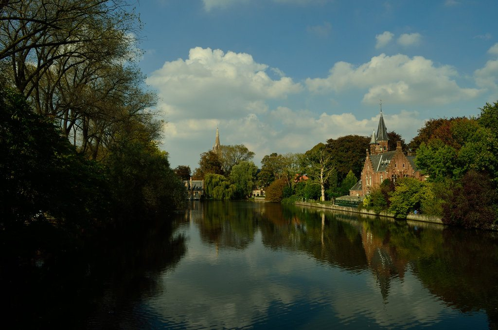 Lake of love, Bruges, Brussels