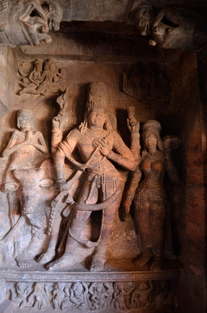 Badami caves, carvings, sculptures