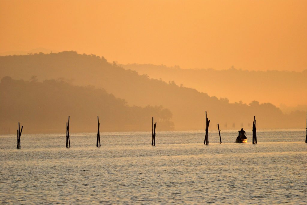 Goa, River Zuari, sunrise