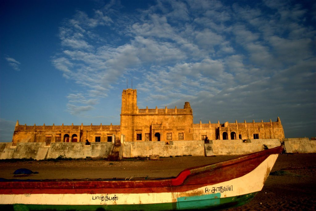 Tranquebar, sunrise, fort