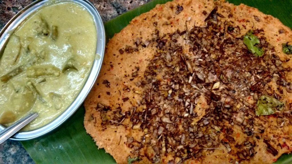 Top ten Chennai eateries , Karpagam Mess, Vazhaithandu adai with avial