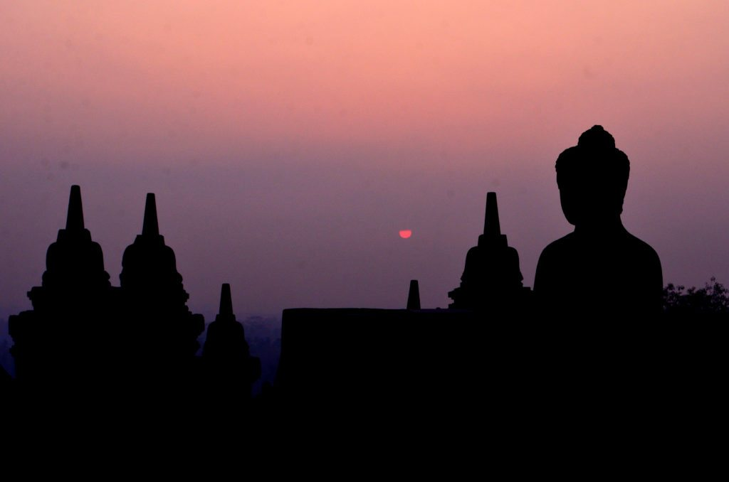 Sunrise at Borobudur, top ten things to do in Indonesia