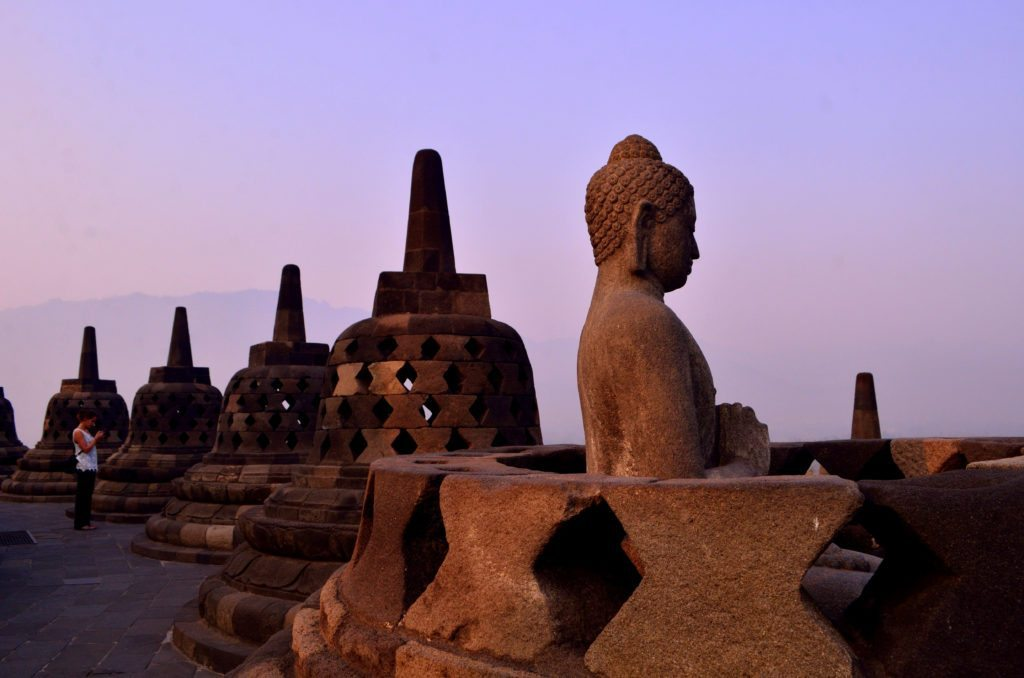 Borobodur, day break, sunrise, top things to do in Yogyakarta