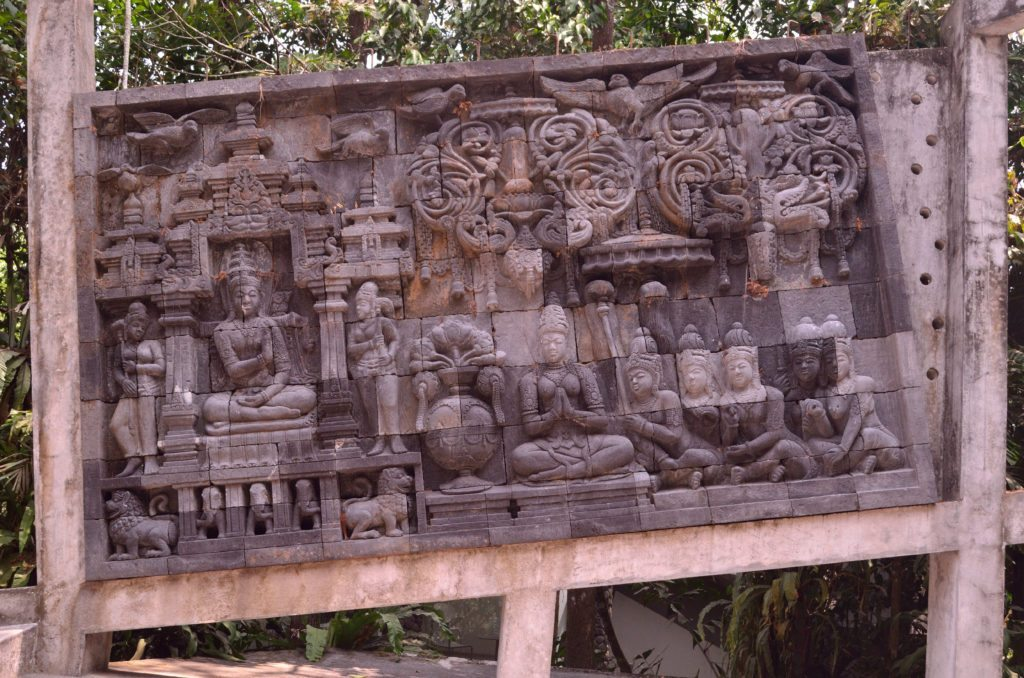 A relief panel inside the museum, top things to do in Yogyakarta