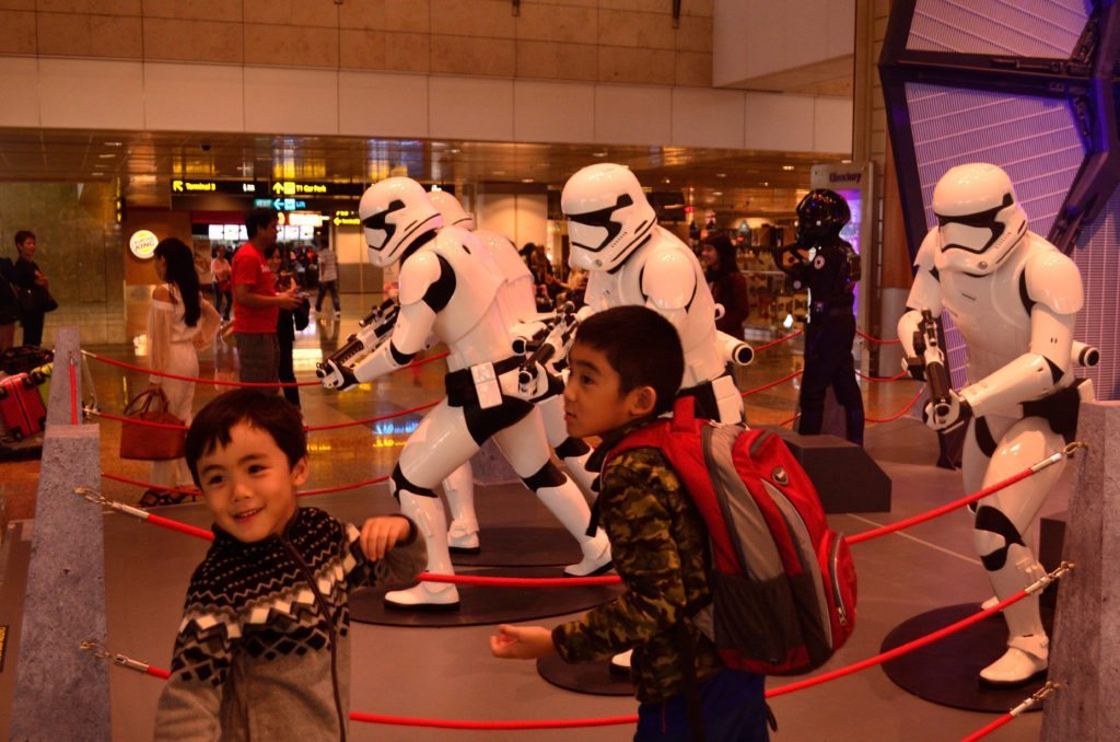 Changi Star Wars photo op