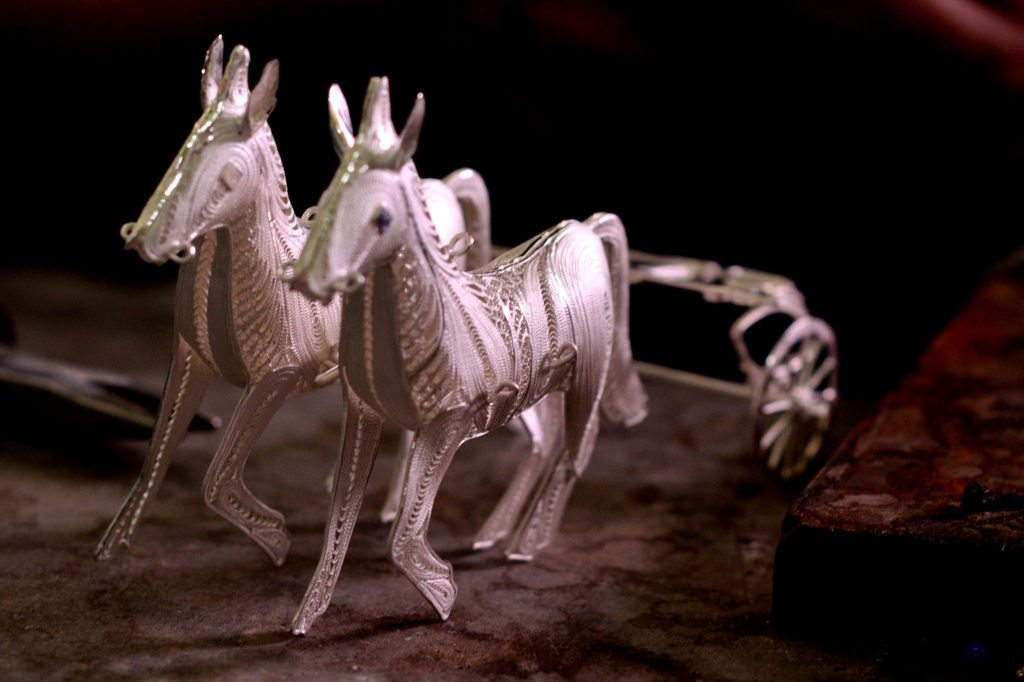 Silver horses crafted by these craftsmen , top things to do in Yogyakarta