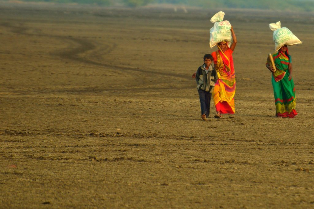 People walking in the Rann - not a common sight, Little Rann of Kutch