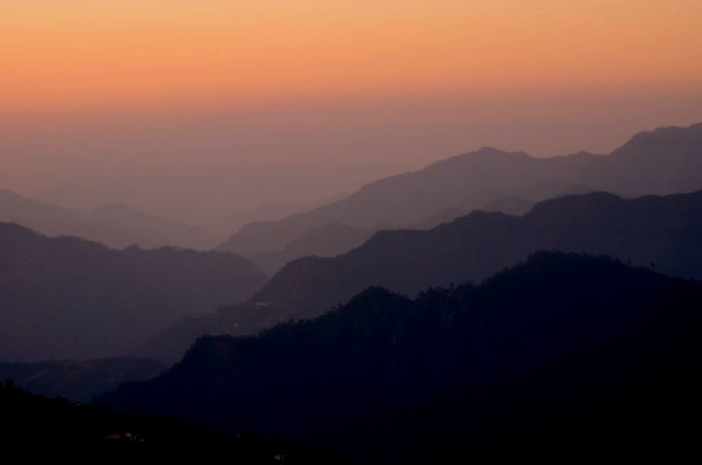 Sunset in Kanatal