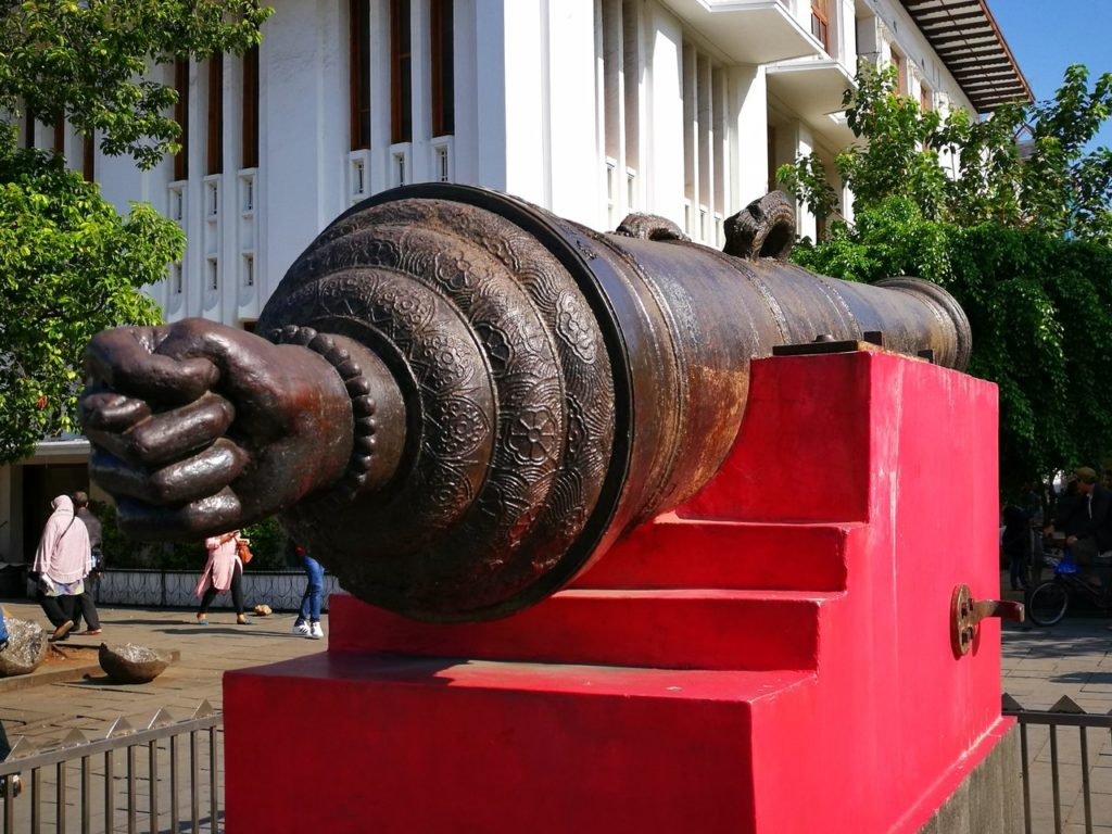 The legend of the fertility canon at Fatahilla Square in Jakarta Indonesia