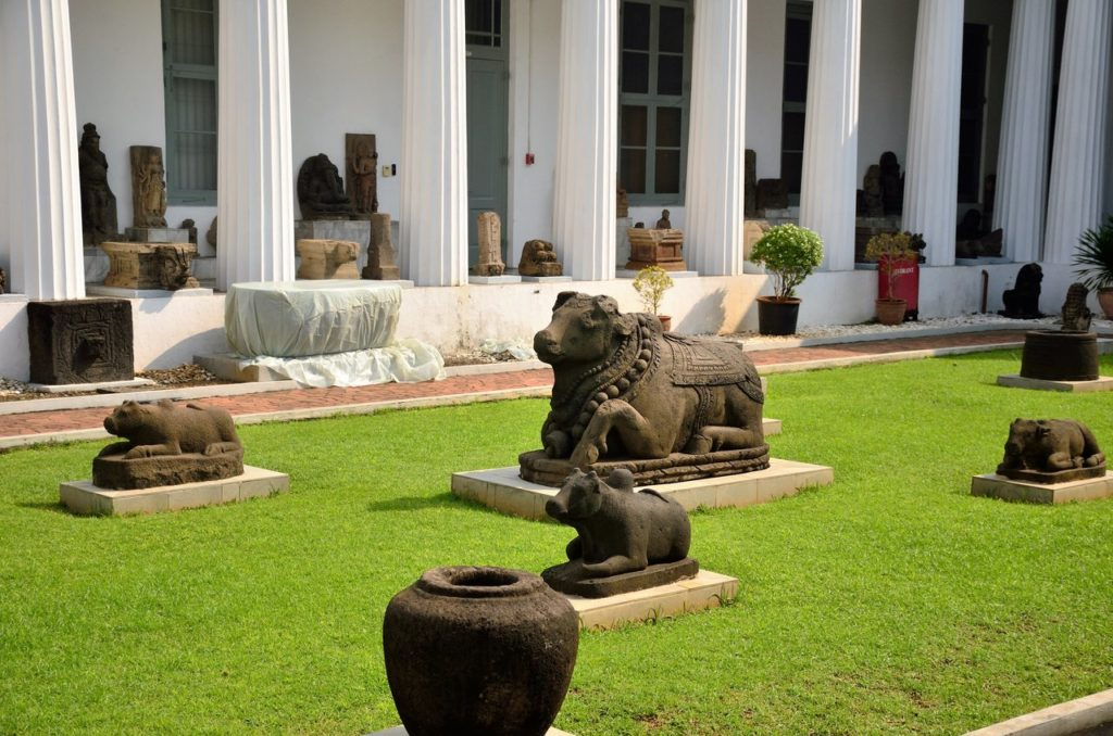 The National Museum with sculptures in Jakarta Indonesia