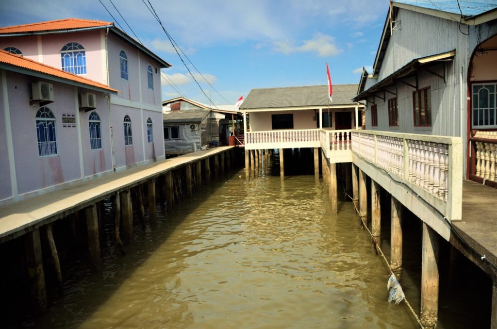 Canals houses in Senggarang Bintan