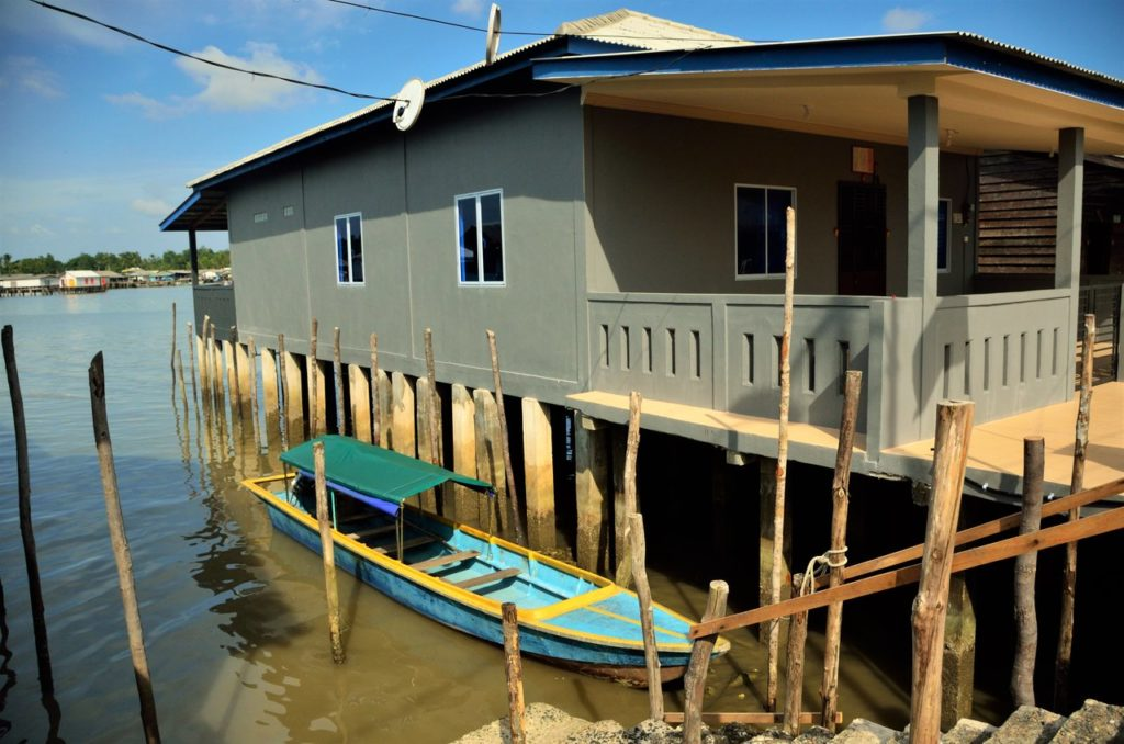 Boats adorn every house in Senggarang Bintan