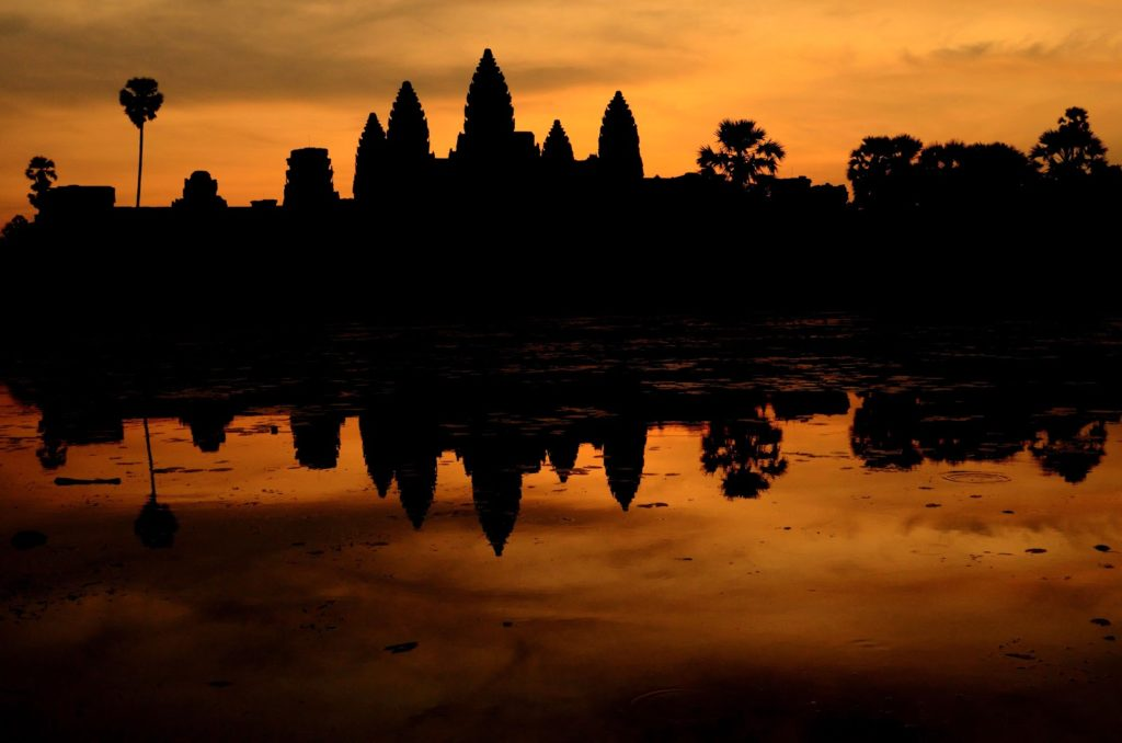 Sunrise at Angkorwat Siem Reap Cambodia