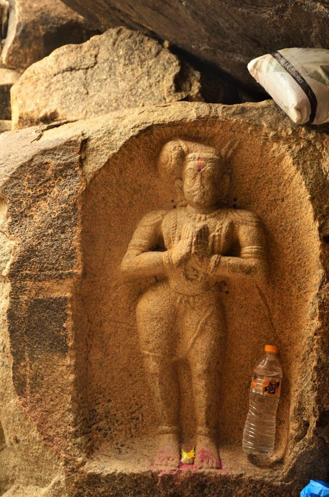 A carving of a king in Hampi