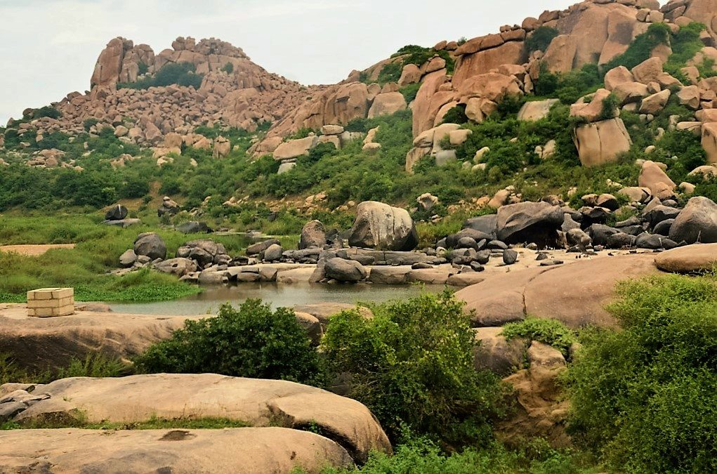 The Tungabhadra river in Hampi