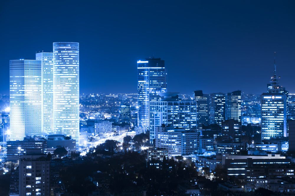 Skyline of Tel Aviv in Israel
