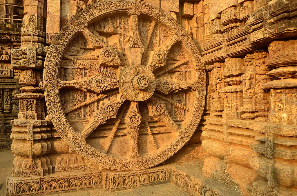 Chariot Wheel at Konark Temple